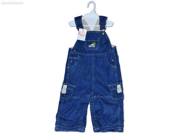 Salopeta Jeans cu bretele pentru baieti