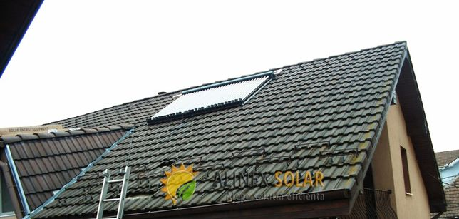 Panou solar, sistem cu boiler separat 150l la cheie.