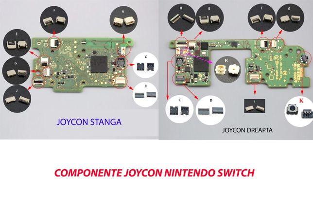 NOU Piese Componente Joystick Controller Joycon Nintendo Switch