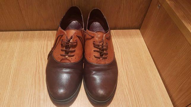 Pantofi piele, talpa joasa