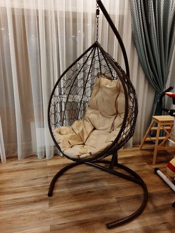Кресло гнездо из искусственного ротанга