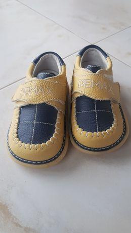 Pantofi piele bebe Demax