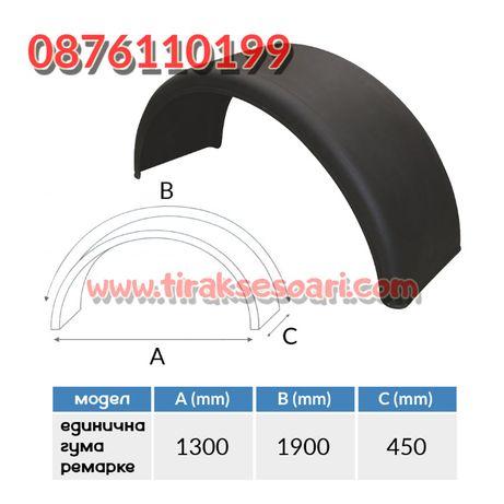 Калник за ремарке единична гума 190х45 см. Калник за ремарке гондола