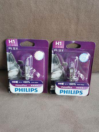 Bec auto cu halogen pentru far Philips H1 Vision Plus, +60%, 12V, 55W