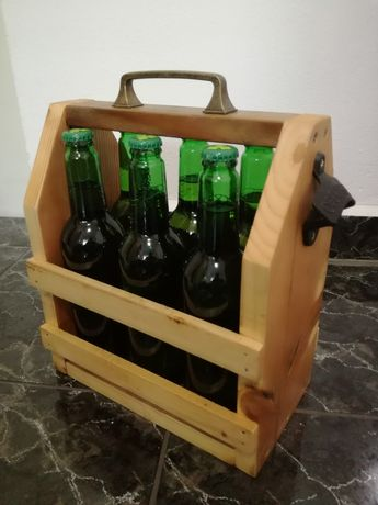 Дървена каса за бира