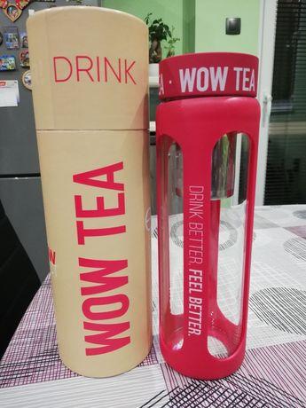 Wow tea бутилка за чай розова и черна. Нови!!