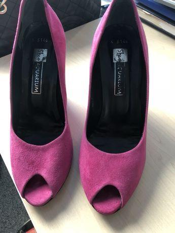 Обувки, естествен велур, розор