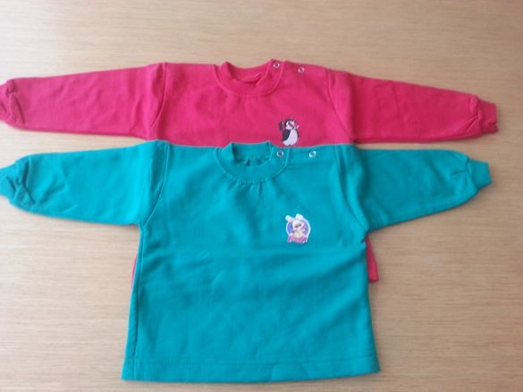 Нови детски блузки с дълъг ръкав за момиче - размер 1 и 2 год.