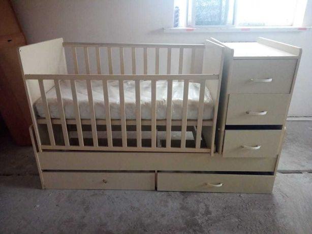 Кроватка-трансформер детская  от 0 до 15 лет.