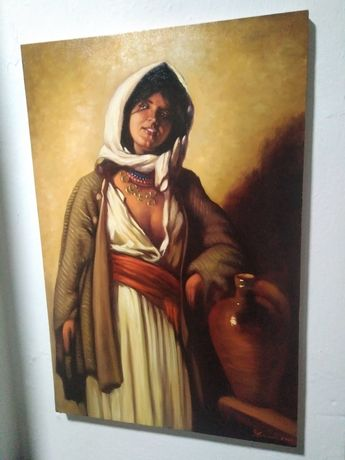 """Oferta """"Tiganca de la Ghergani"""" reproducere N.Grigorescu"""