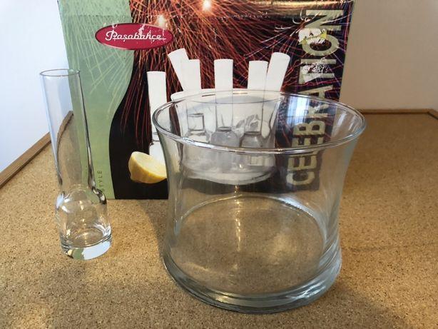 6 Pahare Vodka si 1 recipient gheata, Cadou, petrecere, party