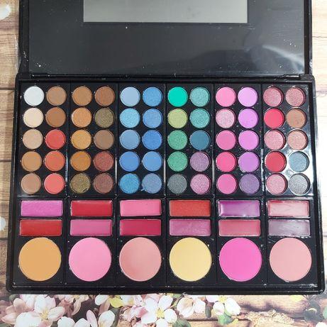 Набор теней палитра для макияжа 60 цветов теней 6 румян 12 блесков
