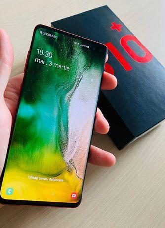 Vand/schimb Samsung S10+ Red (ca nou, la cutie, accesorii si garantie)