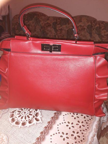 Нова естествена кожена чанта