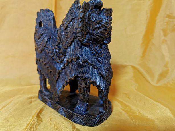 Vand statueta veche Dragon Chinezesc din lemn