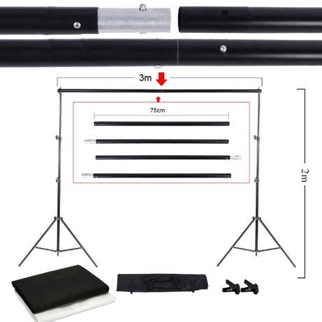 Suport Fundal kit stand, stativ, cabina foto fundal foto alb negru