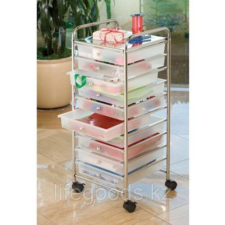 Система хранения (комод, стеллаж) с выдвижными ящиками на колесиках