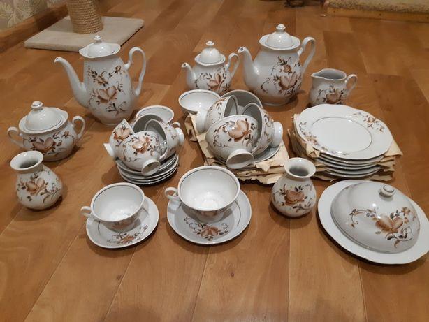 Чайно-кофейный сервиз 38 предметов, новый, 90-х годов