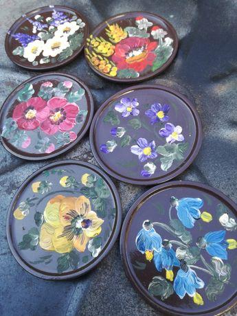 Suporturi pahare pictate manual ulei