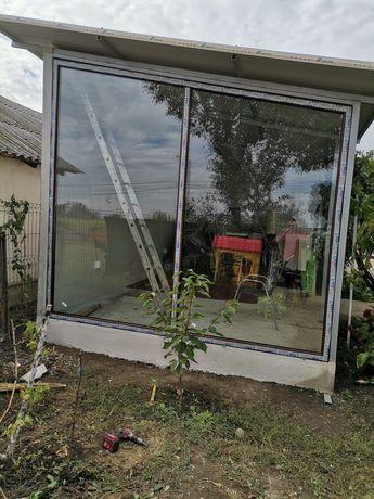 Tâmplărie pvc cu geam termopan reparați și montaj uși interior și meta