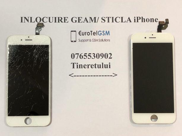 Schimbare Geam/Sticla iPhone 6 100 lei PROMO