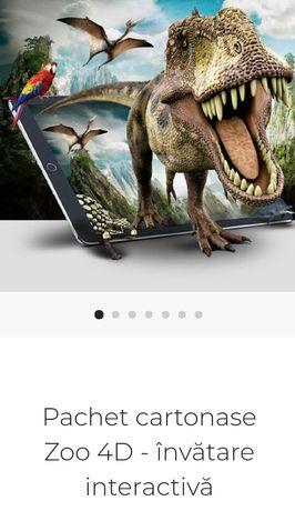 Pachet cartonase Zoo 4D - învătare interactivă