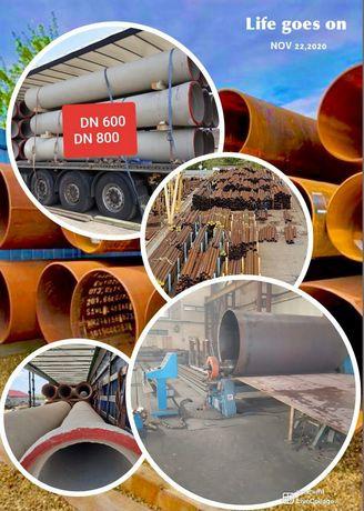 Tuburi premo din beton armat 600 800 1000