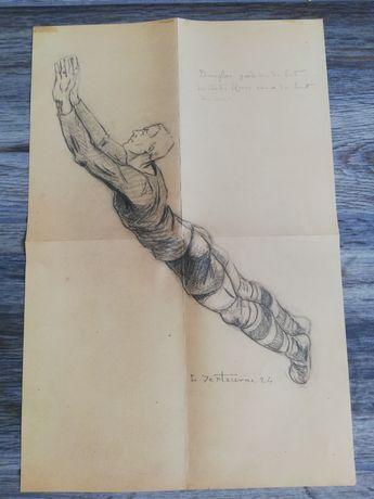 FIFA World Cup 1930 Desen/Portret Creion Jimmy Douglas