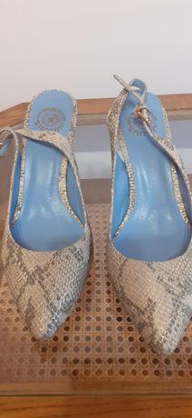 Pantofi piele, animal print, Otter, măs. 38