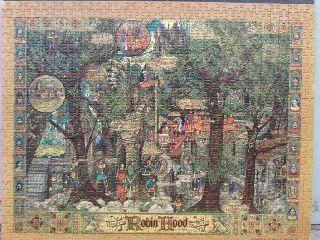 Aventurile lui Robin Hood, tablou 74cm x 60cm din puzzle lipit Anglia