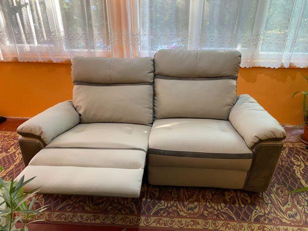 Canapea de 2 locuri cu recliner și balans