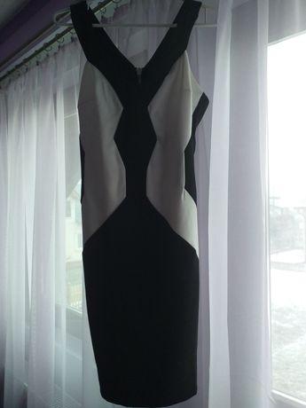 Rochita alb cu negru eleganta, scurta, mărimea s