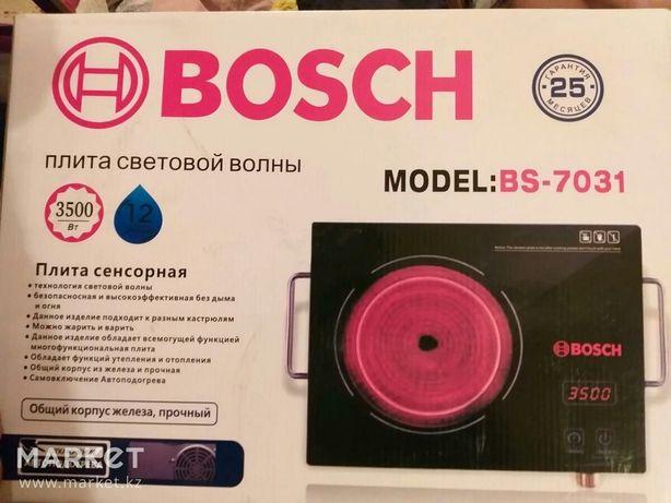 Сенсорная плита электрическая Bosch  3500w электроплита инфракрасная
