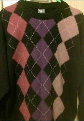Pulover lână-acril /gros / modern / model deosebit, marime XL-XXL ,nou