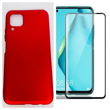 Huawei P40 LITE - Husa Ultra Slim Din Silicon Colorata + Folie Sticla