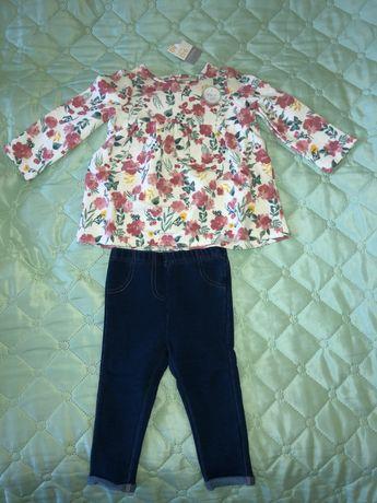 Дрехи- блуза, панталон, боди, рокля 9-12мес. Чисто нови