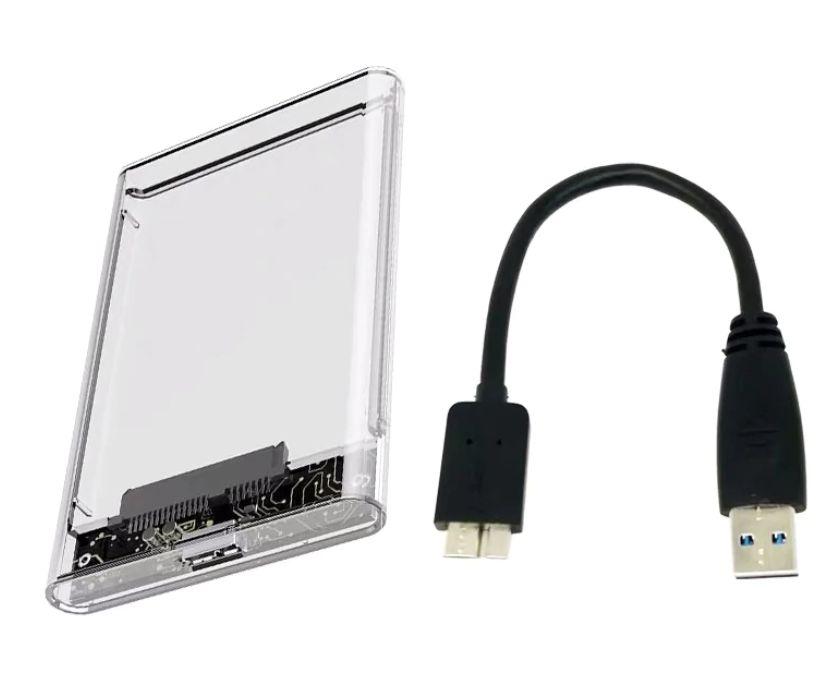 """Прозрачна кутия за хард диск, 2.5"""" HDD Case USB 3.0"""