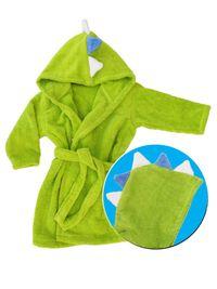 Детски халат за баня/плуване от микропамук ДИНОЗАВЪР - 110, 116, 128
