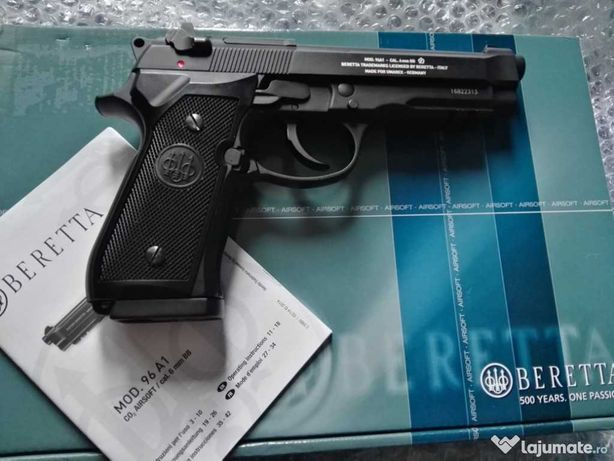 Foarte PUTERNIC Pistol Airsoft NOU LA CUTIE! Beretta co2 4,7j