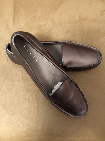 Новые кожаные мокасины на 35-36 размер