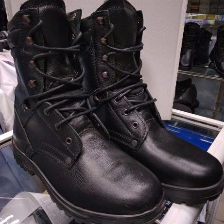 Ботинки с выс берцем,ЗИМА,нат кожа,нат мех,КАЗАХСТАН,41-42размеры