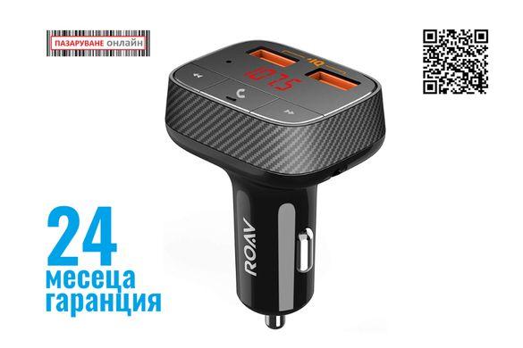 Anker ROAV SmartCharge F0-FM трансмитер със зарядно за кола с PowerIQ