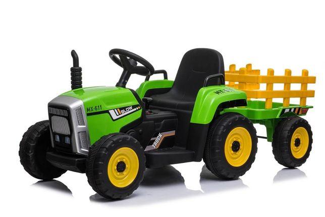 Tractor electric cu remorca pt copii BLOW TRUCK roti EVA (611) Verde