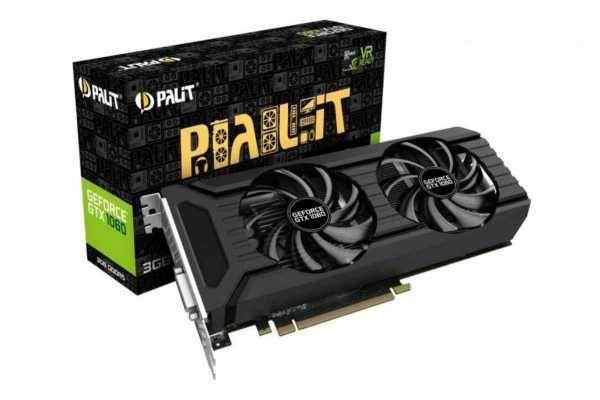 Видеокарта Palit GeForce GTX 1060 6Gb / 192 bit