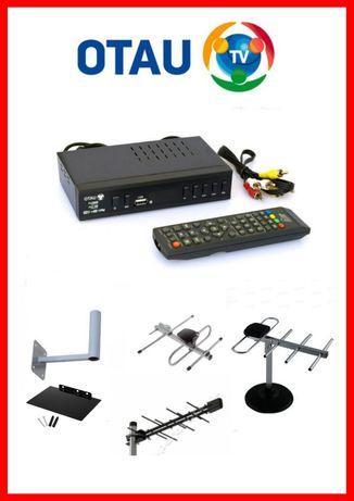 Цифровая эфирные приставка Отау ТВ и антенна