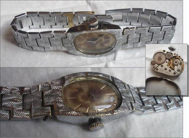 Ceas de dama rusesc LUCH, cal. 1800, 15 rubine, functional