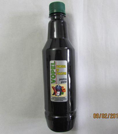 VOPEL - Vopsea neagra pentru articole din piele - 500ml