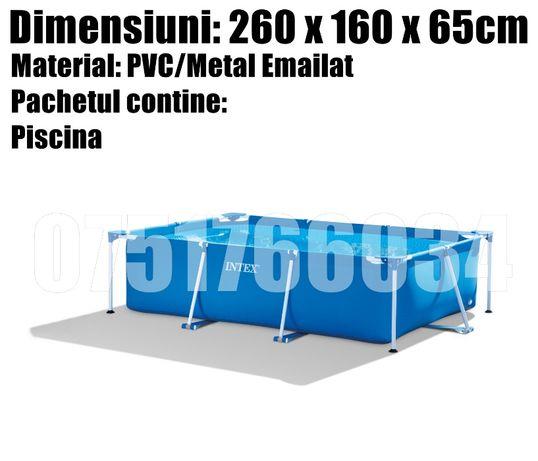 Piscina Bazin COPII Curte Dreptunghiulara Cadru Metal 260 x 160 x 65cm