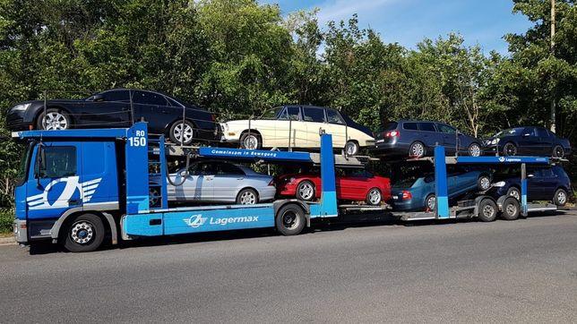 Transport auto pe platforma Belgia  Olanda Germania Franta