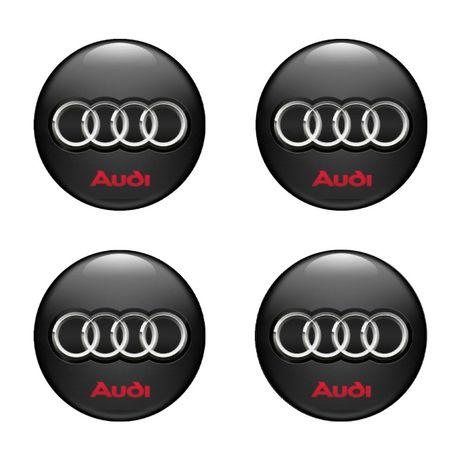 3D Силиконови стикери за капачки на джанти АУДИ/Audi размери 40-120 мм